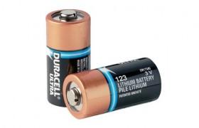 Duracel CR123A, 3V lithium