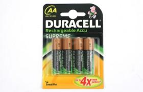 Duracell 2450 mAh NiMH AA batterijen