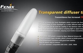 Fenix diffuser transparant 21,5 mm