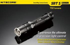 NiteCore SRT5, max. 750 lumen (ZWART)