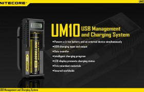 NiteCore UM10, USB lader