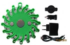 PowerFlare oplaadbaar, GROEN, 9 patronen