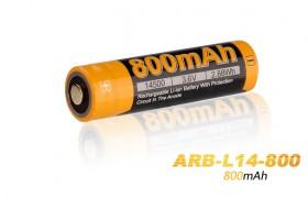Fenix ARB-L14-800 14500 accu, 800 mAh Li-ion