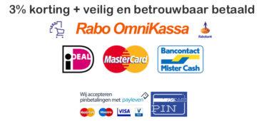 Veilig en betrouwbaar betaald via OmniKassa & Payleven