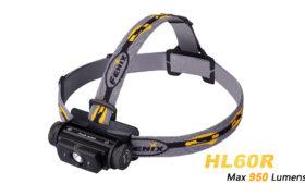 Fenix HL60R oplaadbare hoofdlamp, zwart