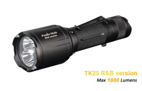 Fenix TK25 RB jachtlamp wit, rood en blauw