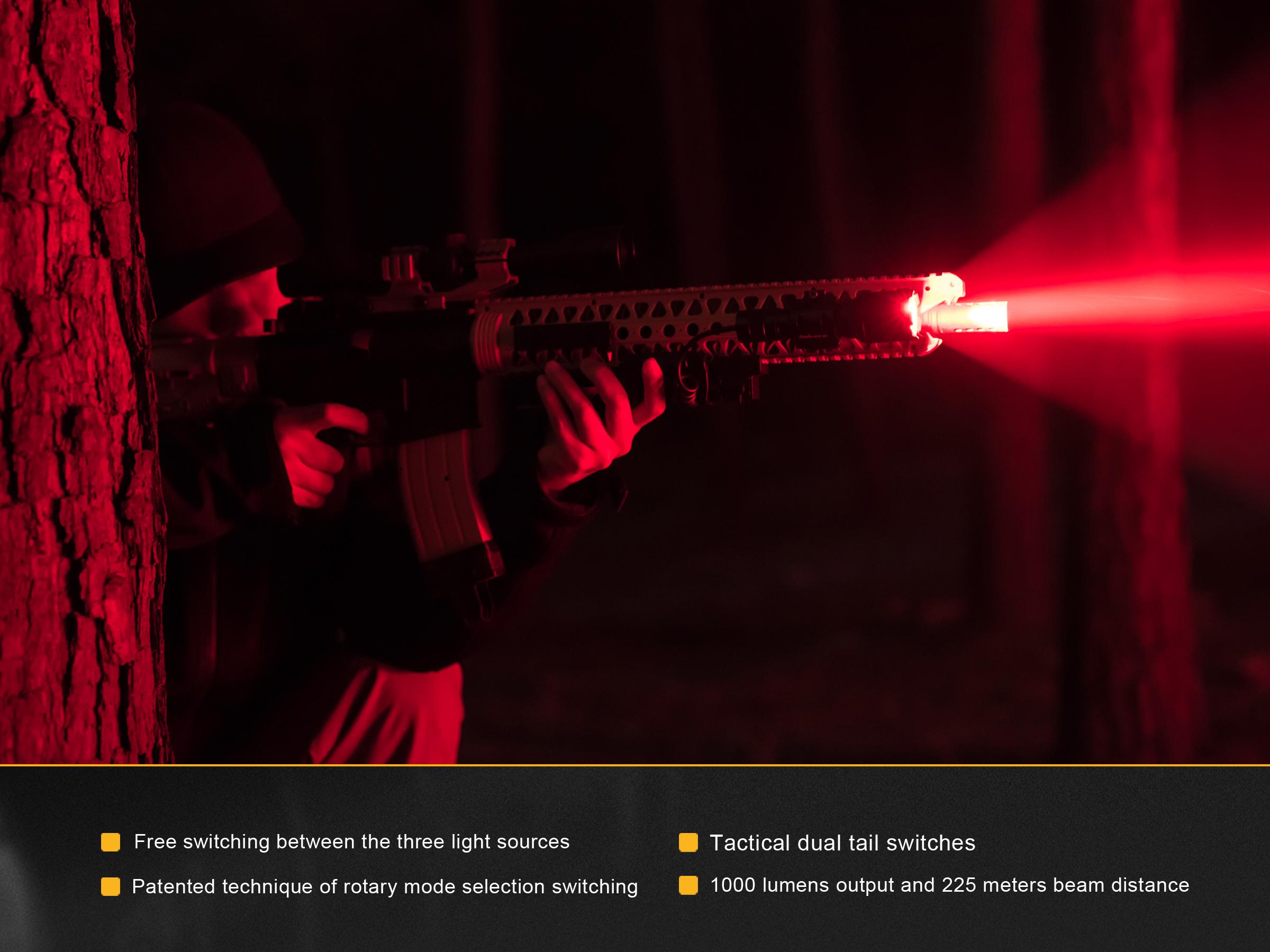 Zaklamp Rood Licht : Fenix tk rb led zaklamp kopen avtools